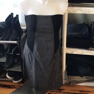 Calvin Klein black/gray strapless dress size 14